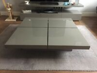 Dwell Grey Gloss Coffee Table/Storage Unit