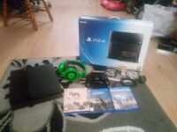 PS4 500GB with 3 games and Razer Kraken Headset - Boxed