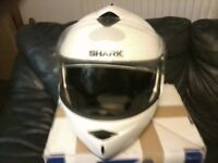 Shark motorcycle helmet,good quality helmet,with face that opens up.