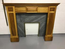 Solid hardwood mantelpiece and fire surround