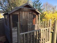 Children's timber tower Playhouse