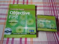Objective first certificate book + cds