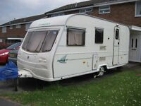 Avondale Dart 515-4 Touring Caravan 4 Berth Year 2002 with Awning