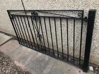 Black Iron Gate 186cm wide x 107cm high