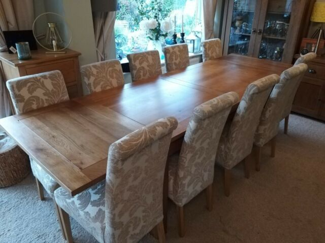 Phenomenal Solid Oak Extendable Dining Room Table With 10 Chairs Dorset Range From Oak Furnitureland In Milton Keynes Buckinghamshire Gumtree Home Interior And Landscaping Ologienasavecom