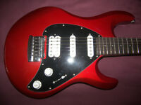 Sterling by Music Man , MusicMan S.U.B. SL-Silo 3 Electric Guitar + Gig Bag. / Red Metallic.