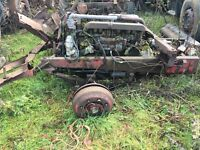 Thornycroft engine, gearbox, steering box, front axel and springs