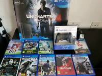 Sony ps4 slim 9 games 2 x official controllers