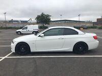 BMW E93 320d M Sport 2dr Convertible White 77k Low Milage, Idrive, Dvd, Satnav