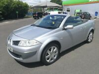 RENAULT MEGANE CONVERTIBLE 1.6 AUTOMATIC. 1 YEAR MOT. FULL SERVICE HISTORY. 1 PREVIOUS OWNER. 2 KEYS