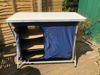 Camping Kitchen Larder storage Table Folding