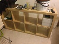 Ikea shelving plus attachable desk