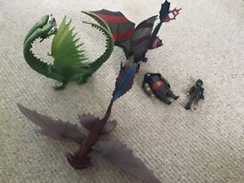 How to Train your Dragon Playsets X3