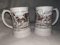Porcelain Ashes Commemorative Tankards