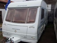Coachman Pastiche 420 2 Berth End Kitchen Caravan with Motor Mover , Awning