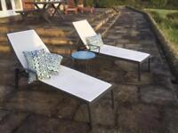 Modern Outdoor Aluminium reclining chair - lounger