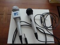 MTV Music Television and Goodmans Karaoke Wired Microphones