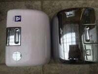 Airdri Hand Dryer Chrome and White