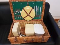 Picnic basket with place settings and accessories