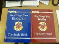 CGP Key Stage Two Maths and English Study Books for 7-11 year olds