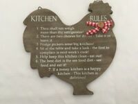 Kitchen Wall Plaque Kitchen Rules