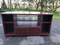 Mock dark wood TV stand