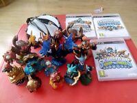 Bundle of Skylanders games ,portal and figures for ps3