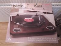 Ion Max LP dark wood conversion turntable (still boxed)