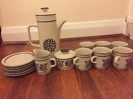 Lovely stonewear coffee set