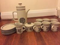 Lovely stonewear coffee set
