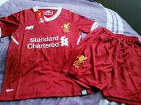 Liverpool football shirt and shorts 2017-18 season new with tags
