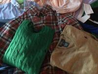 An amazing collection of boys Ralph Lauren nearly new shirts