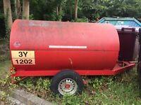 Single skin fuel bowser. 1125 litre capacity.
