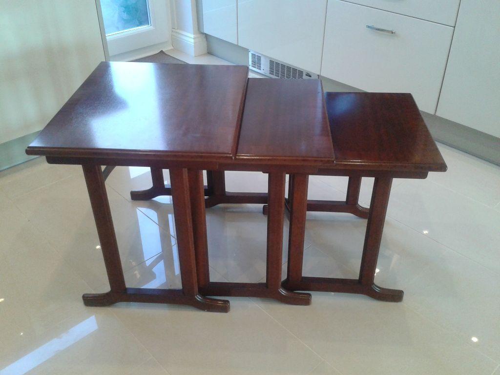 G Plan Garrick Mahogany Nest Of Tables