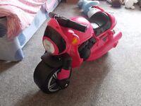 RIDE ON PINK MOTORBIKE