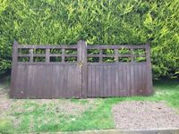 Set of wooden gates