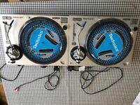 Audio‑Technica AT‑LP120‑USB Turntable ‑ Silver / 2x Ortofon Concorde DJ S Cartridge only.