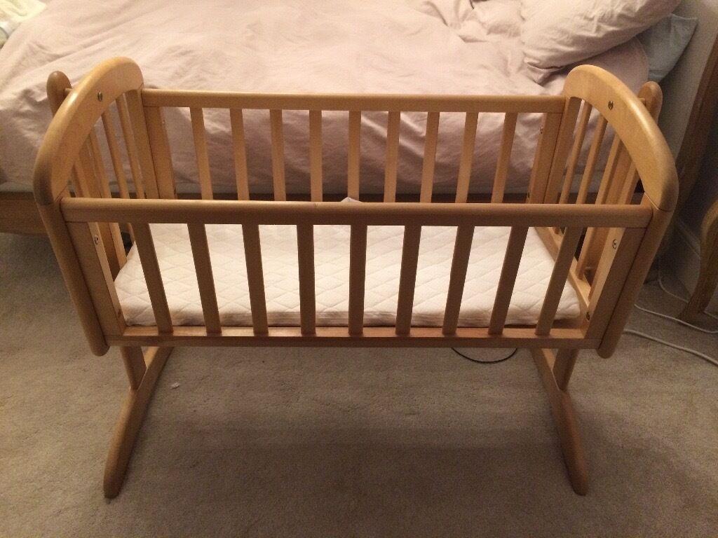 Baby cribs john lewis - John Lewis Anna Swinging Crib In Natural Wood