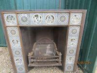 John Moyr Smith Fireplace with cast iron insert