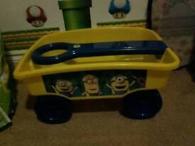 Minions pull along trailer