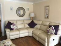 *MUST BE GONE BY WEDNESDAY hence low price*Cream leather corner sofa £300ono