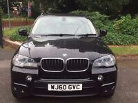 BMW X5 AUTOMATIC DIESEL, 60 REG, 88 K MILES, FDSH, LEATHER, AURX, BLUETOOTH, MOT, MINT, HPI CLEAR
