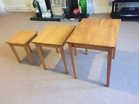 Set of 3 small tables for sale only for £15