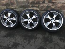 """NO TEXTS - Glasgow* 19"""" Antera alloy wheels 5x114 Nissan Mazda Lexus supra + tyres 235/35/19"""