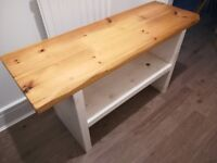 TV stand with solid Oak top