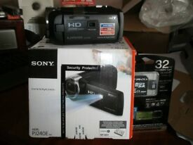 Sony Handycam with built in projector brand new
