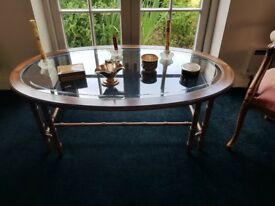 Mirror and Display cabinets and table