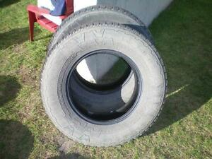 2 Nokian Rotiiva AT Winter Tires * LT265 70R17 121/118S * $60.00 for 2 .  M+S / Winter Tires ( used tires )