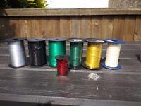7 reels decorative cellophane ribbon 5mm wide