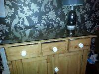 Soild pine side board cabinet